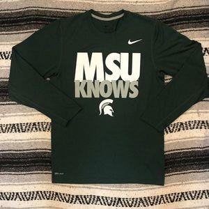 Michigan State MSU Nike Dri Fit Long Sleeve